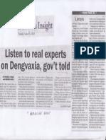 Malaya, Aug. 6, 2019, Listen to real experts on Dengvaxia, govt told.pdf