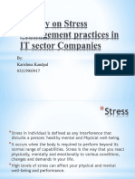 A Study on Stress Management Practices in IT