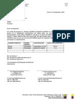 Oficio de Informe Noviembre 2016 de Mep - Parroquia Eclesciastica de Santa Rosa