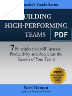 High Performance Team Neelraman Book