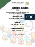 Traumatismo Craneoencefálico Irnstruccion Clinica