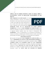 Demanda de Juicio Oral de Extinción Total de La Obligación de Pasar Pensión Alimenticia.