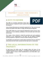 The Vendors Obligations
