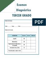 3er Grado - Examen de Diagn¢stico (2019-2020)