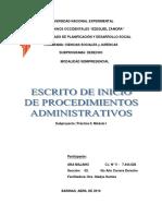 Escrito de Inicio de Procedimiento Administrativo