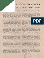 Revista juego para niños de folklore 1952