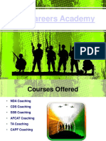 Best Coaching Institute for AFCAT, NDA, SSB, CDS, CAPF, TA or Various Armed Force Competitive Examinations