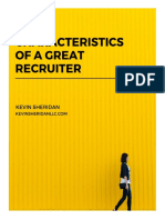7 Characteristics of a Great Recruiter
