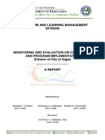 Report on Monitoring and Evaluation-ilagan City