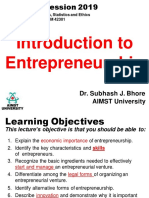 Lecture 1. Intro to Entrepreneurship
