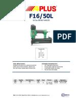 Aplus F1650L 16Ga Pneumatic Nailer PDF