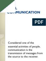 1. Oral Communication