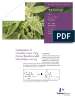 Optimization of Cannabis Grows Using Fourier Transform Mid Infrared Spectroscopy