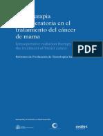 RADIOTERAPIA INTRAOPERATORIA EN EL TRATAMIENTO DEL CÁNCER DE MAMA