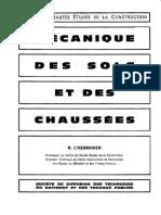 1967 - Mécanique Des Sols Et Des Chaussées - L'Herminier