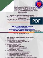 Reforming Sustaining LGU PFM System