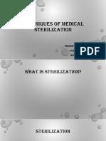 Technics of Sterilization