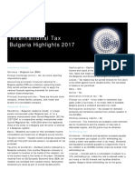 International Tax - Bulgaria Highlights 2017