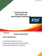 Instruction for Line Maintenance Procedure