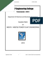 Me6701 Power Plant Engineering 2marks Skp
