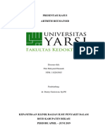 Presentasi Kasus  (RA)