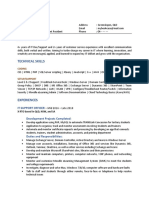 CV of a CCNA qualified person with coding skills found on ozbargain 436520.pdf