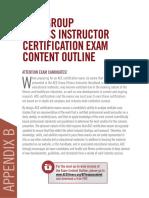 GFI Exam Content Outline