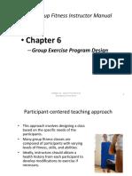 Chapter 6 Group Exercise Program Design PP