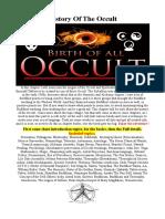 ORIGINS  OF THE  OCCULT