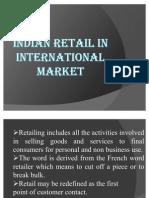 Indian Retail in International Market