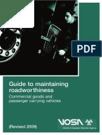 Maintaining Roadworthiness PCV 1110