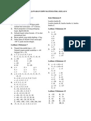 Jawaban Buku Esps Matematika Kelas 5 Guru Ilmu Sosial