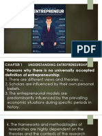 Entrepreneur and Entrepreneurship