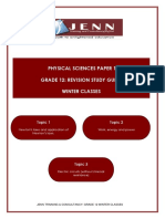 Physical Sciences Paper 1 ( Winter Classes 2018)