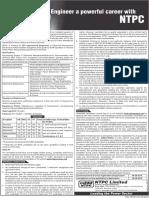Employment News Ad English ntpc