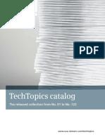 ANSI MV TechTopicsCatalog