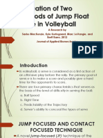 SYNTHESIS Evaluation of Two Methods of Jump Float Serve