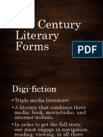 21st Century Literay Forms