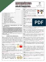 Apostila de Análise Combinatória (9 Páginas, 92 Questões, Com Gabarito) (1)