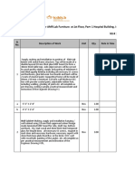 BoQ With Specifications for AMR Lab Furniture at 1st Floor, Part- 1 Hos...