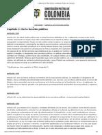 Capítulo 2 Del Título 5 de La Constitución Política de Colombia