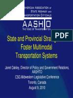 stateandprovincialstrategiestofostermultimodaltranssys2010-110103112237-phpapp01