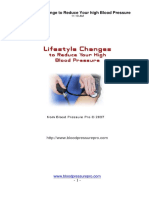 Lifestyle Change to Reduce Your High Blood Pressure
