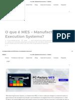 O Que é MES – Manufacturing Execution Systems_ – PPI-Multitask