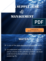 Water Supply Use and Management