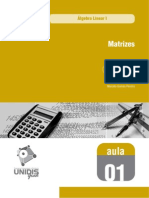 4419577 Algebra Linear I Aula 01 559 Matrizes