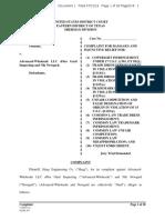 Haag Eng'g v. Advanced Wholesale - Complaint