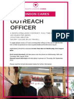 Outreach Officer-South London Cares 2019
