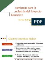 Herramientas para la formulación del Proyecto Educativo