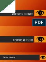 MORNING REPORT .pptx